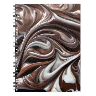 cuaderno del remolino del chocolate