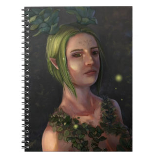 Cuaderno del retrato de la mujer del duende de la