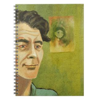 cuaderno del retrato del hombre joven