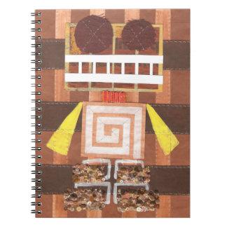 Cuaderno del robot del chocolate