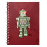 Cuaderno del robot del juguete
