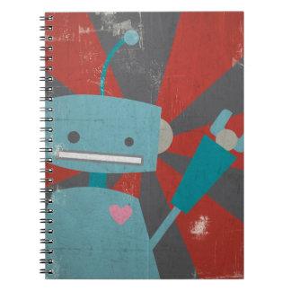 Cuaderno del robot (en azul)