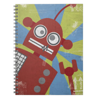 Cuaderno del robot (en rojo)