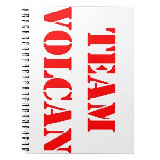 Cuaderno del ROJO del EQUIPO VOLCAN