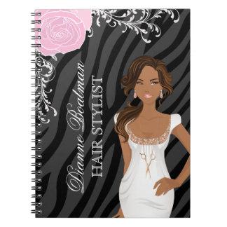 Cuaderno del salón de pelo - libro de cita