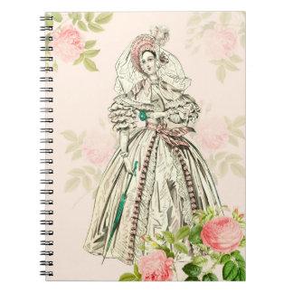 Cuaderno del siglo XIX de la moda de la señora del