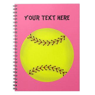 Cuaderno del softball de Fastpitch