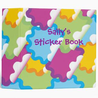 cuaderno del stickerbook del pegatina del vector