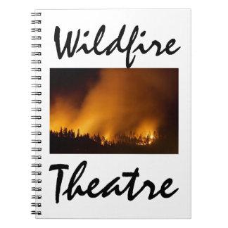 ¡Cuaderno del teatro del incendio fuera de control Note Book