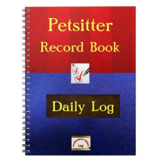Cuaderno del trabajo de Petsitter