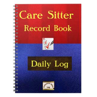 Cuaderno del trabajo del canguro del cuidado