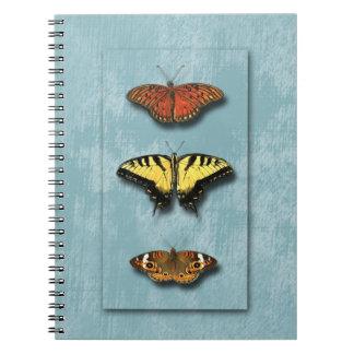 Cuaderno del trío de la mariposa