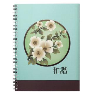 """Cuaderno del """"unísono"""" de las flores blancas del"""