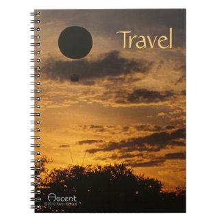 Cuaderno del viaje del globo del aire caliente de