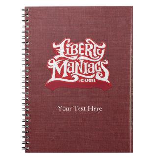 Cuaderno del vintage de los maniacos de la liberta