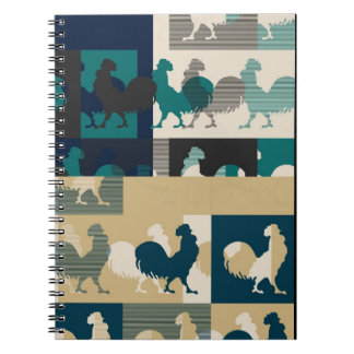 Cuaderno del vintage del gallo