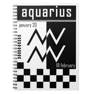 Cuaderno del zodiaco del Dos-Tono del acuario