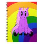 Cuaderno desaliñado lindo del unicornio