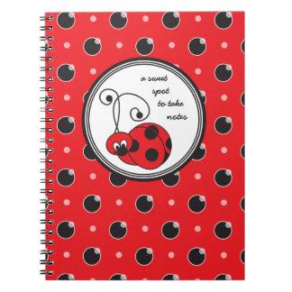 Cuaderno deshilvanado de la mariquita de Itty - ro
