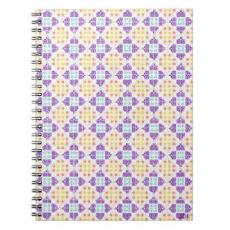 Cuaderno diagonal de la teja de mosaico
