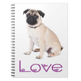 Cuaderno/diario del perro de perrito del barro libretas