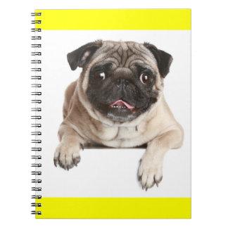 Cuaderno/diario del perro de perrito del barro note book