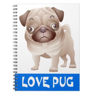 Cuaderno/diario del perro de perrito del barro spiral notebooks