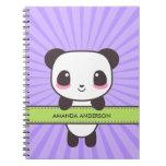 Cuaderno/diario personalizados de la panda de Kawa Libretas Espirales