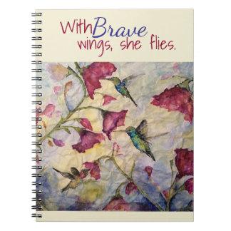 Cuaderno-Diario valiente del arte del colibrí de Libretas Espirales