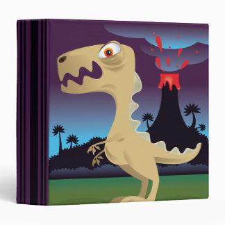 """Cuaderno divertido de T-Rex y del volcán Carpeta 1 1/2"""""""