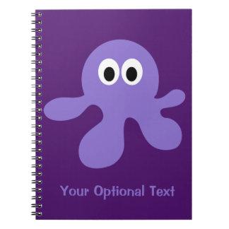 Cuaderno divertido del personalizado del pulpo