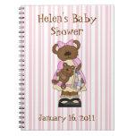 Cuaderno dulce de la fiesta de bienvenida al bebé