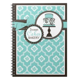 Cuaderno dulce Turq del negocio de la torta