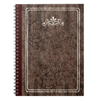 Cuaderno duro de la mirada de la cubierta del vint