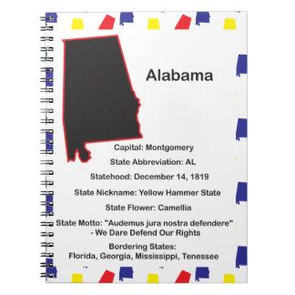 Cuaderno educativo de la información de Alabama