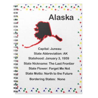 Cuaderno educativo de la información de Alaska