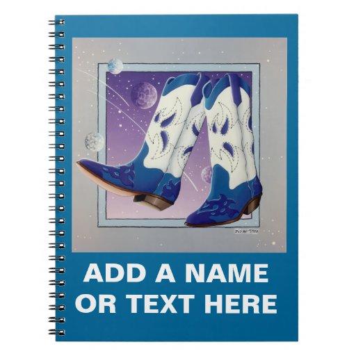 Cuaderno eléctrico de las botas de vaquero de la d