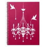 Cuaderno elegante de la lámpara