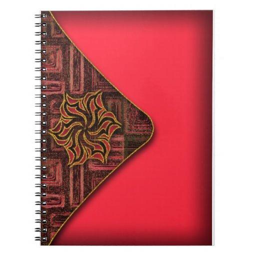 Cuaderno elegante del diario del sobre