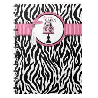 Cuaderno elegante del negocio de la torta del bout