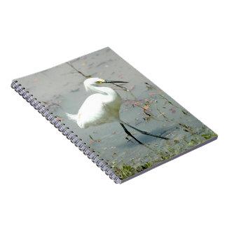 Cuaderno elegante del pájaro del Egret