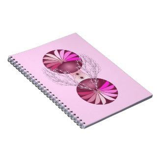 Cuaderno elegante rosado