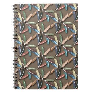 Cuaderno emplumado de la pluma
