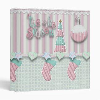 cuaderno en colores pastel de la alegría del navid