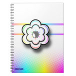 Cuaderno en colores pastel de la flor (fondo blanc