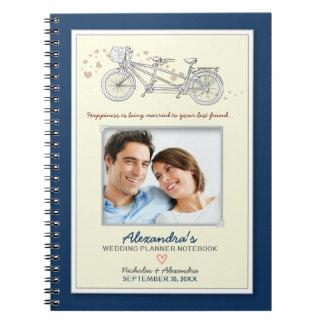 Cuaderno en tándem del planificador del boda de la
