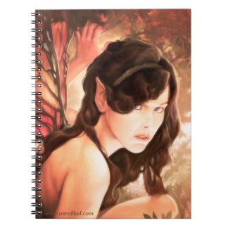 Cuaderno encantado de la hada del otoño