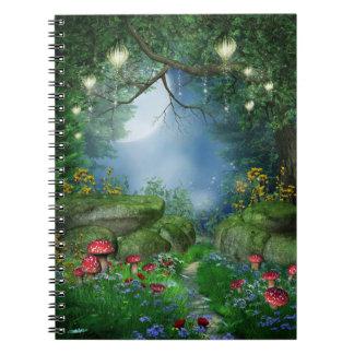 Cuaderno encantado de la noche de verano