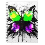 Cuaderno enrrollado de la mariposa