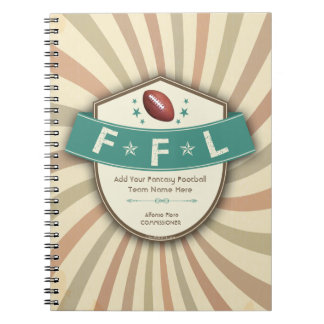 Cuaderno enrrollado del modelo de la liga de fútbo